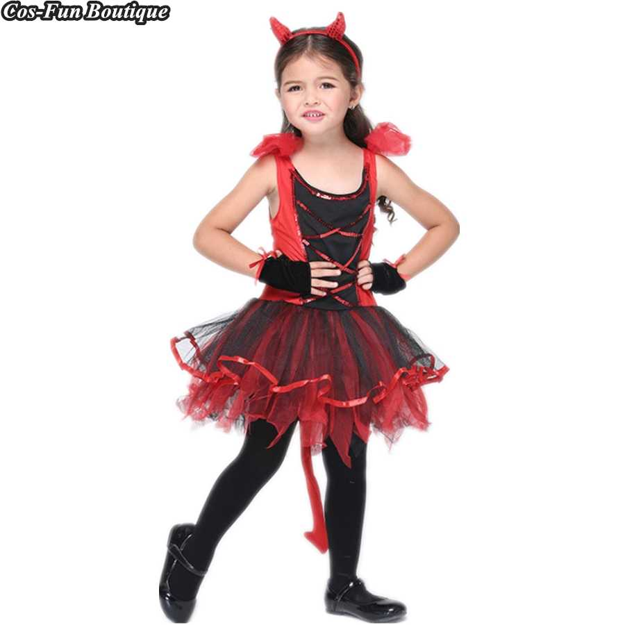 514f4c9d54 PRINCESS TUTU Fancy Devil Cat Costume Set Girls Halloween Costume for Kids  Cosplay Party Dress Girls