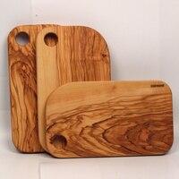 Olivewood bloco de desbastamento de madeira placas de pizza pão sushi #902 grande tamanho Natural oild Acabado
