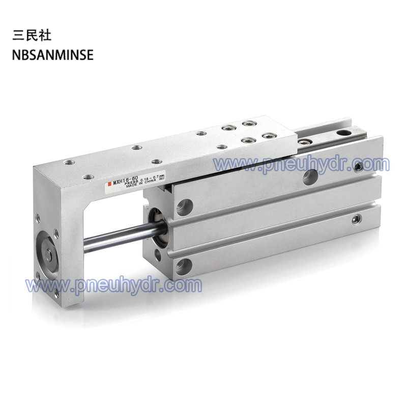 ФОТО MXH 16-5 High Reliability Slide Cylinder Compact Slide Series MXH SMC Cylinder Pneumatic Air Cylinder SANMINSE Sanmin
