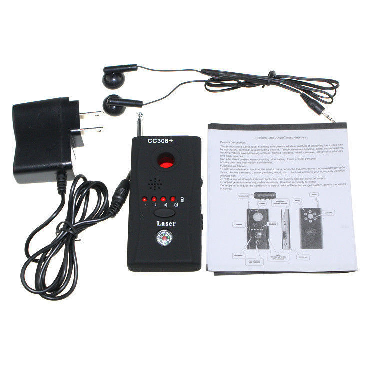 Antispy Camera Bug RF Detector GEEAIR Wireless Bug Detector Hidden-Camera Lens Detector Radio Wave Signal Detect Full Range GSM