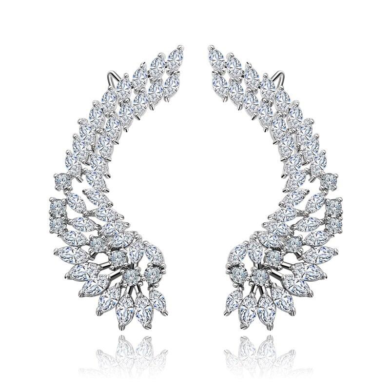 1 Paire Fashion Boucles d/'oreilles cristal Post Stud Oreille grimpeur Piercing Oreille Wrap Boucles d/'oreilles