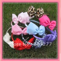 12PCS Hair Band With Bow New Satin Hair Accessory