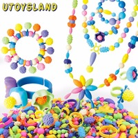 UTOYSLAND Pop Beads Toy Jewelry Necklace Bracelet Ring DIY Handmade Making Craft Kit For Children Girls
