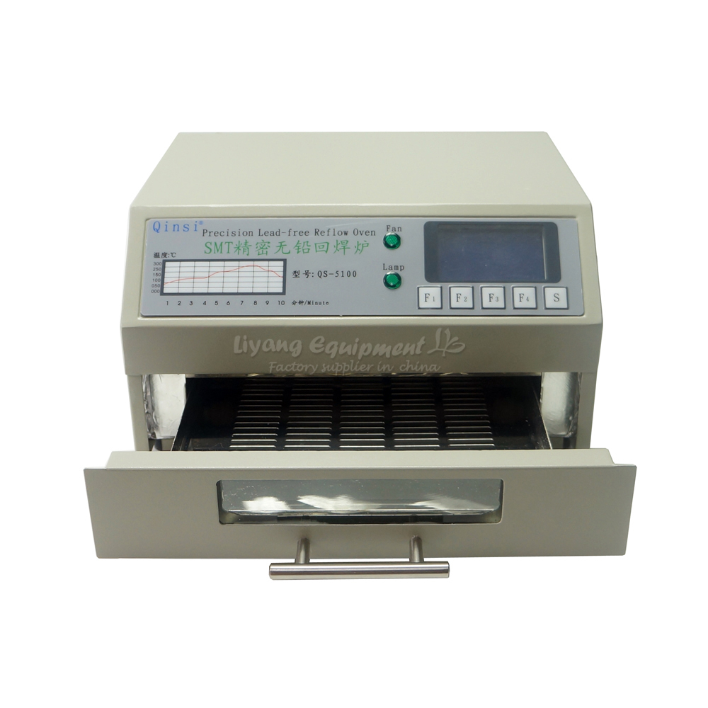 Wholesale Desktop Automatic QS 5100 IC Heater Infrared Reflow Wave Oven 600W soldering heating equipment