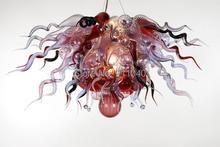 лучшая цена Air Shipping AC Led Bulbs 120v/240v Hand Blown Glass Led Crystal Pendant Lamp