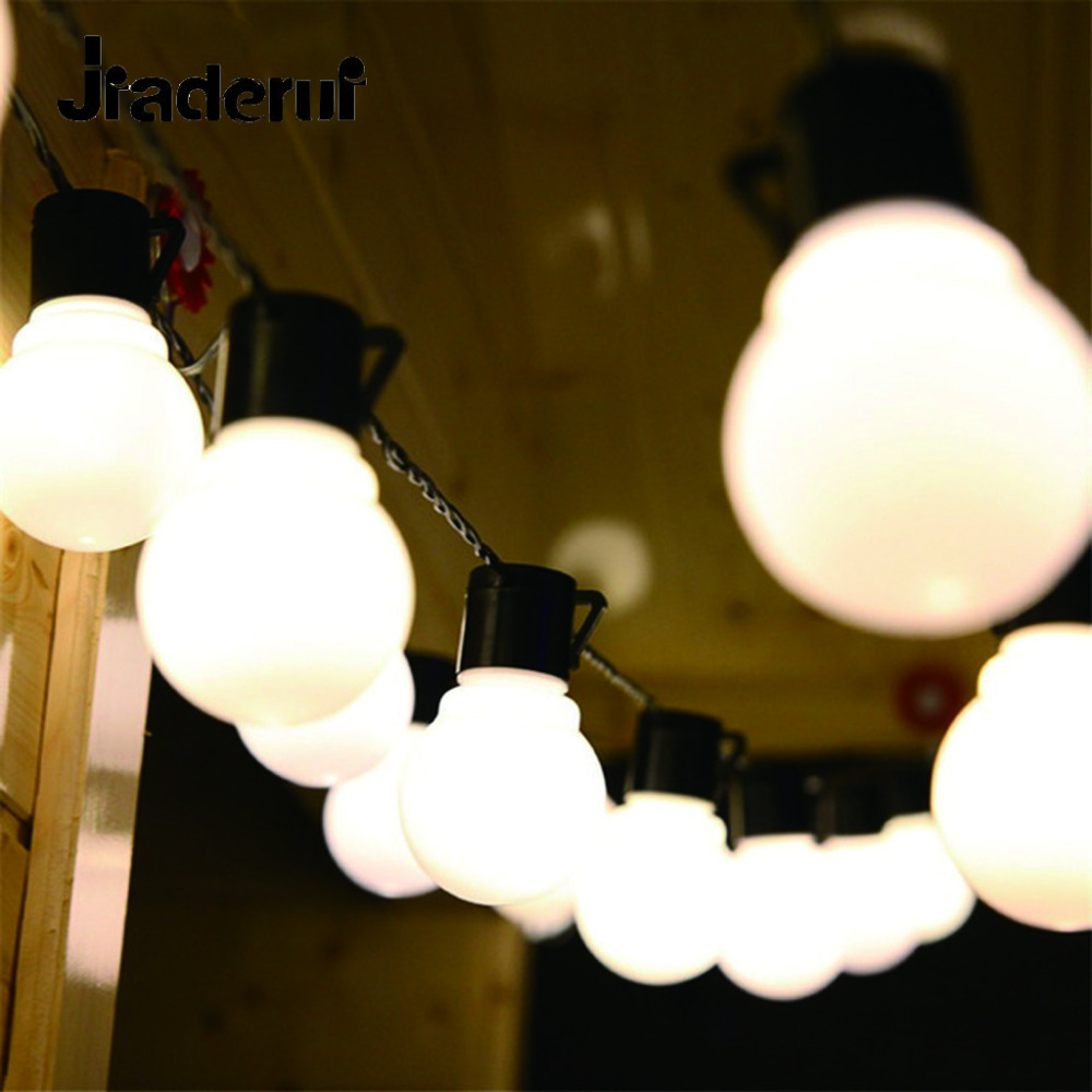 Jiaderui 10M 38 Leds Novelty String Lights New Year Christmas Wedding Fairy Lights for Indoor&Outdoor Decor Garden Party Lights globe fairy string bulb lights for indoor outdoor wedding christmas xmas thanksgiving party events home roof decor colorful