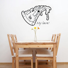 Restaurant Decoration Delicious Pizza Wall Sticker Vinyl Art Removable Poster Mural Tasty Food Decals LY1652