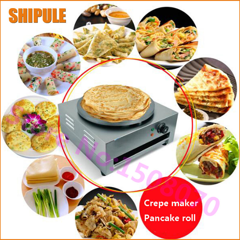 Hot Free shipping electric crepe maker machine for sale single commercial crepe maker machine for sale free shipping 220v 240v electric manual rotating crepe machine crepe maker pancakes maker
