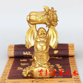 Maitreya copper Buddha belly Laughing Buddha Maitreya Zhaocai Wangcai Home Furnishing ornaments for Chinese feng shui ornaments