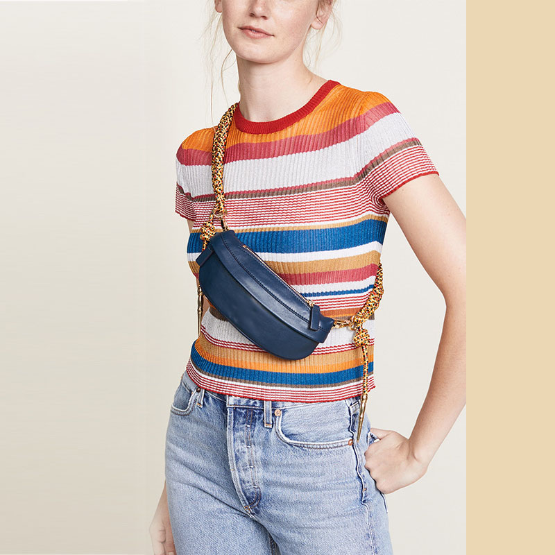 Waist Bag Women 2019 New Pockets Artillery Chest Bags Knot Braided Shoulder Strap Casual Waist Pocket Belt Bag For Phone