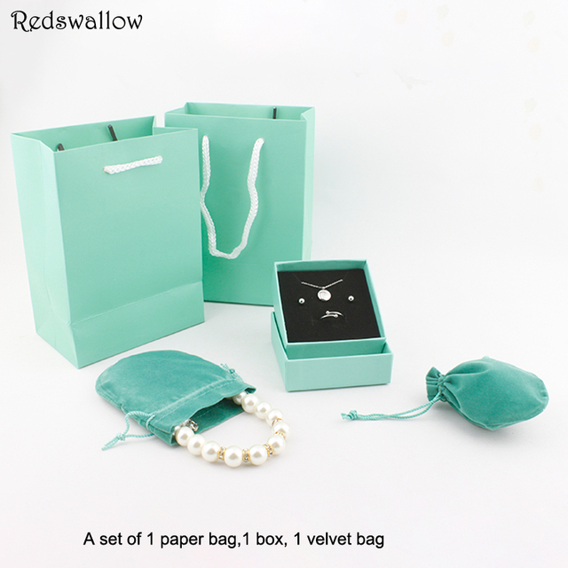 Gift Box Packaging Bag Jewelry Bo For Set Paper Necklace