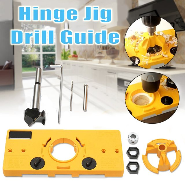 35mm Cabinet Hinge Jig Wood Hole Saw Drill Locator For Guide Tool