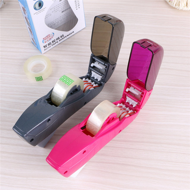 12/19mm One Press Auto Tape Dispenser Hand-held Intelligent Automatic Tape Dispenser Cutter Adhesive Holder Packaging Cutter 2