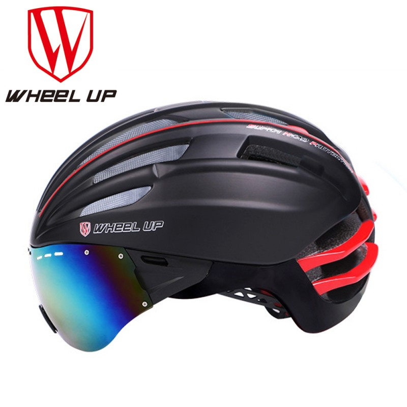 WHEEL UP Aerodynamic Ultra-Light Mountain Cycling Bike Helmet MTB Bicycle Helmet Bike Accessories With Goggles Glasses wheel up bike head light cycling bicycle led light waterproof bell head wheel multifunction mtb lights lamp headlight m3014