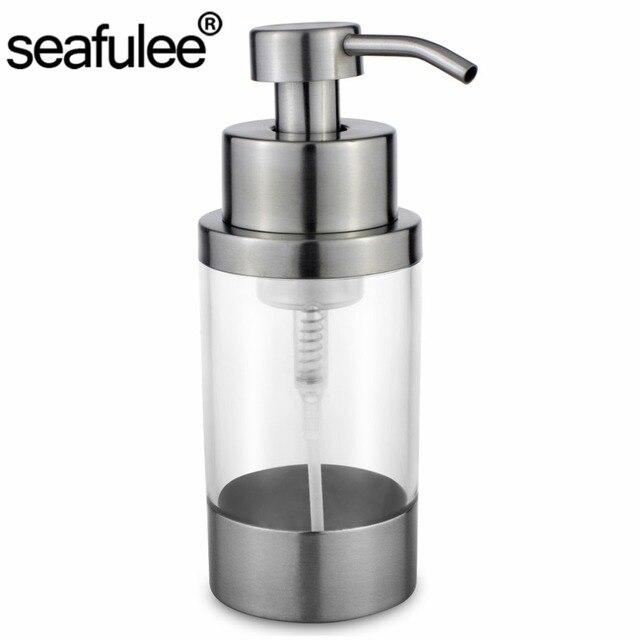 304 In Acciaio Inox Pompa Bottiglia Dispenser di Schiuma di Sapone ...