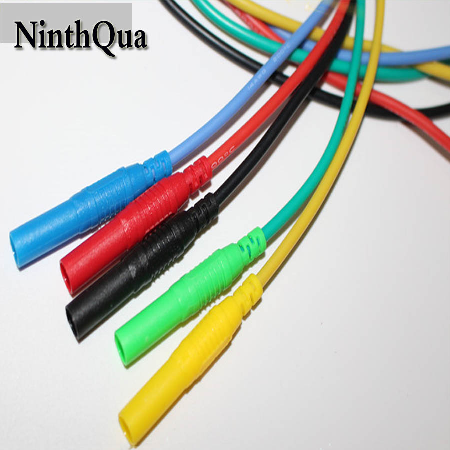 5 pcs 500mm High pressure multimeter pen extension test line with 4mm plug+socket,0.5M <font><b>13AWG</b></font> Ultra soft <font><b>silicone</b></font> <font><b>cable</b></font> image