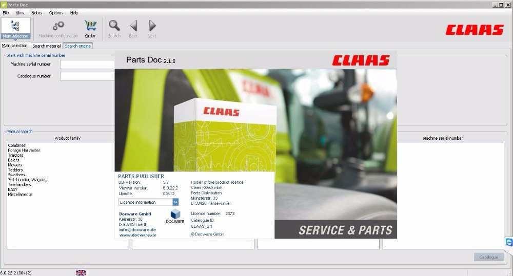 For Claas Parts Doc 2.1 - Agricultural 2017 sport in history