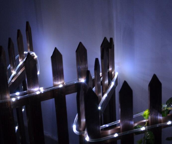 Excellent Quality 7M 50 LED Solar Rope Tube Led String Strip Fairy Light <font><b>Outdoor</b></font> Garden Party Decor Waterproof New