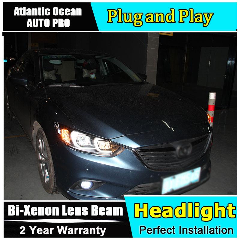 Авто.Про фары для Мазда 6 Атенза 2014-15 d2h у ксенона для Mazda 6 светодиодных фар Би Ксеноновые парковка автомобилей стайлинг лен