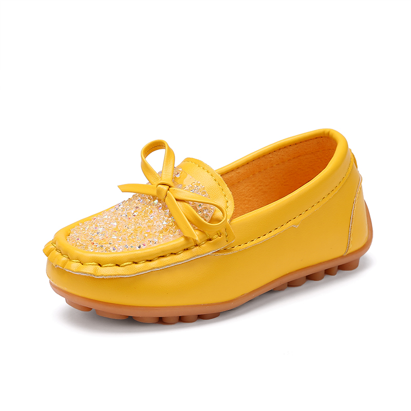 2018 New Childrens Sequins solid Loafer with butterfly-knot , girls and boys bling Sneaker , kid casual shoes for Spring
