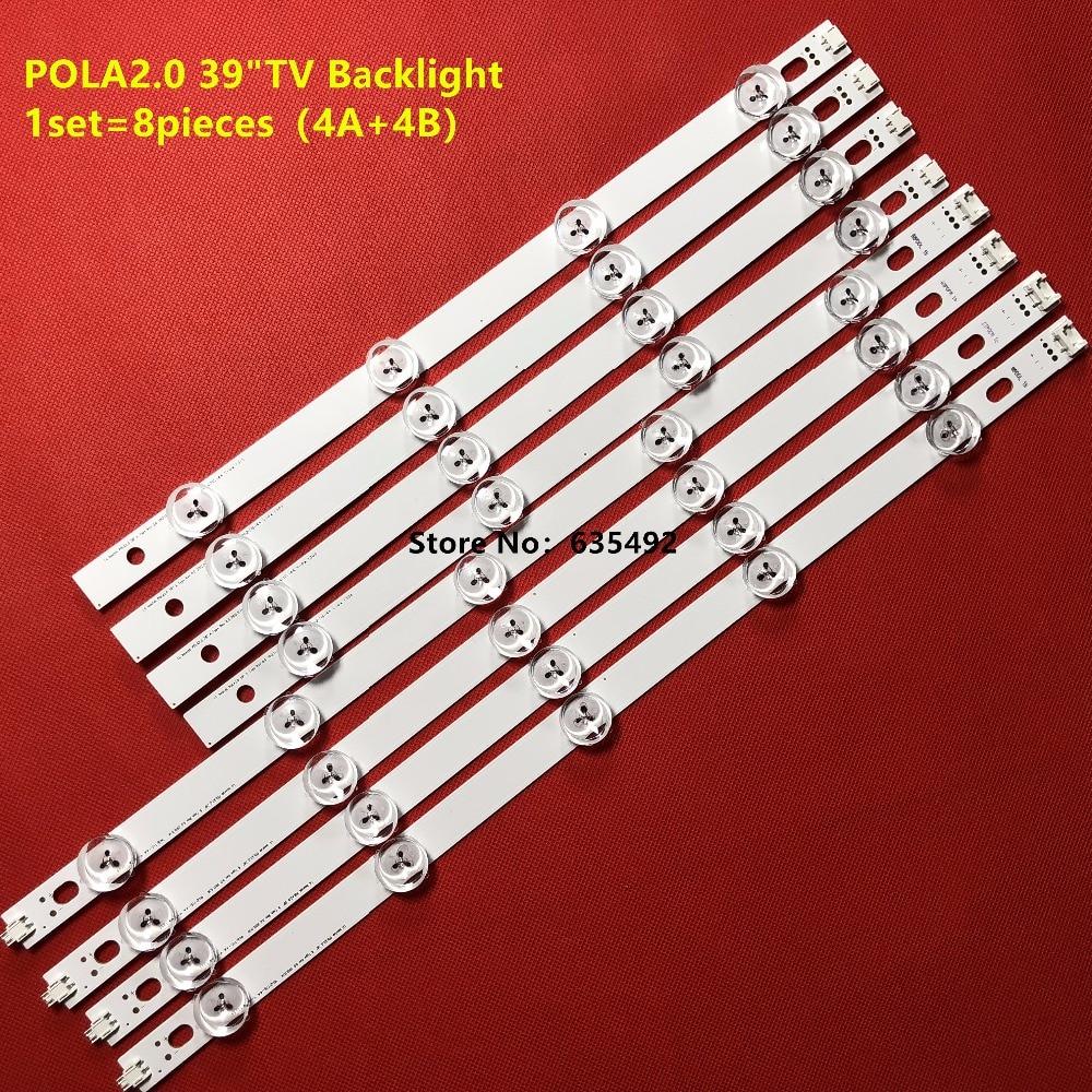 100% New 8 Pieces(4A+4B) LED backlight for TV 39LN5300 39LN5400 39LN5100 LG innotek POLA 2.0 POLA2.0 39A/B type HC390DUN-VCFP1 d74ha0 4a is a d74ha0 4a c d74ha0 4a b d all new drive strip module