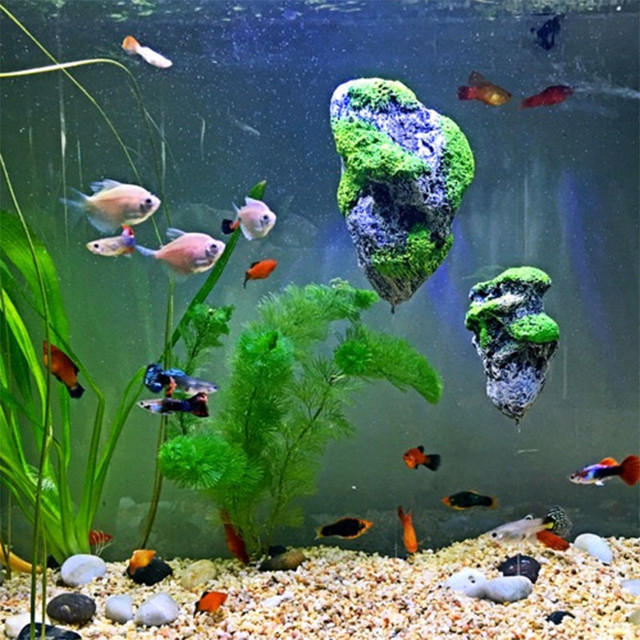 Floating Avatar Mountain Rocks For Fish Tank