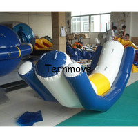 Inflatable Teetertotter for kids adult Water Game for water sports pvc air water totter single line double lines seesaw rocker