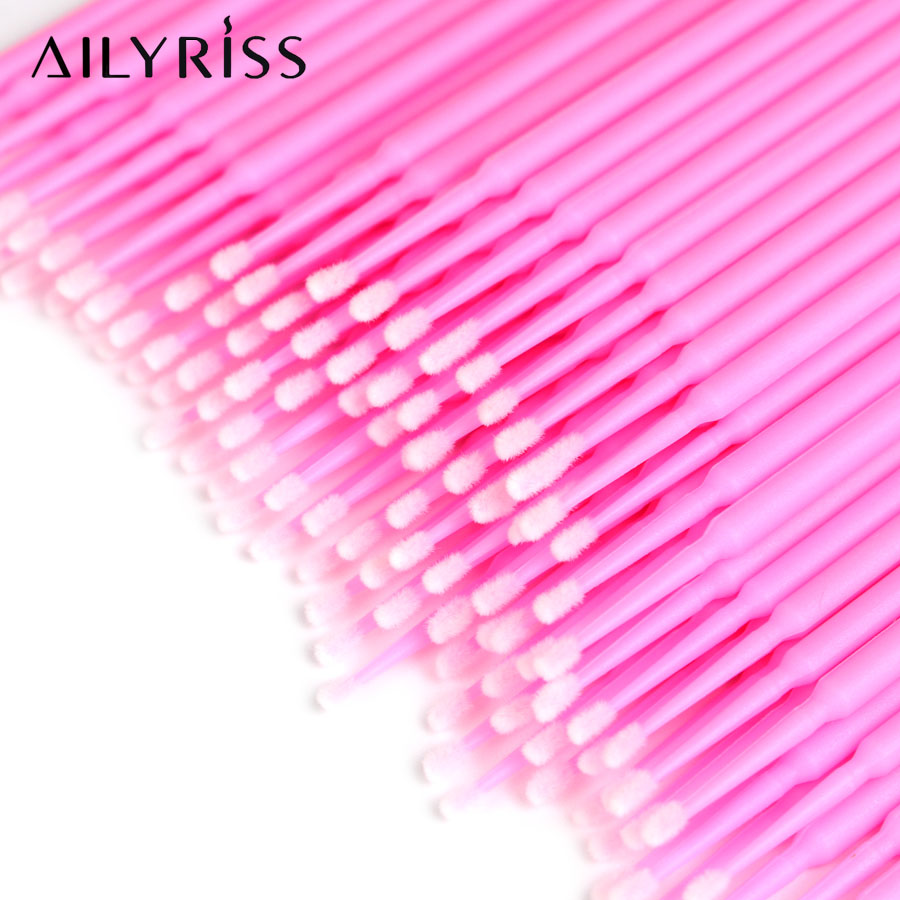 Micro Disposable Applicator Mini Swab Makeup Tools 100/200/300pcs False Eyelash Removing Tools Lash Brushes Eyelash Extensions