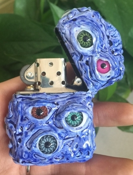 Handmade Plastic Zip Insert Creative Devil Eyes Lighter3
