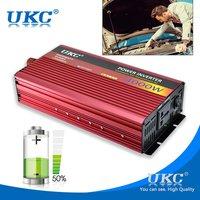 UKC 4000W Solar Power Car Power Inverter DC 12V To 220V Car Power Adapter Portable Sine Wave Car Power Converter Car Charger