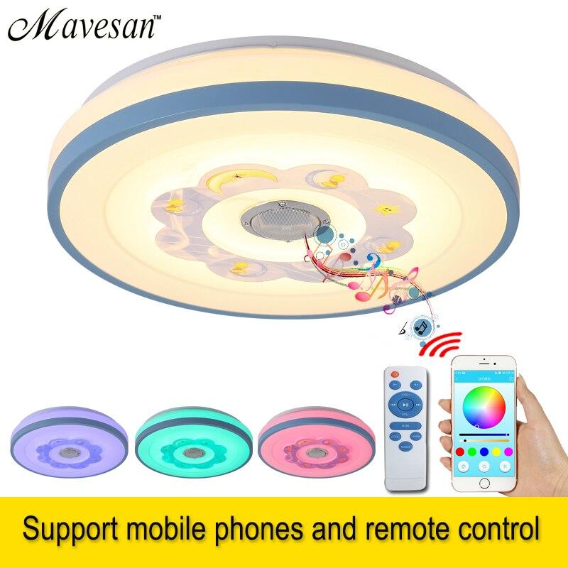 Bluetooth téléphone mobile musique promesse variateur LED plafonniers 36 W stufenlose Dimmen RGB LED Deckenleuchte maison lampe