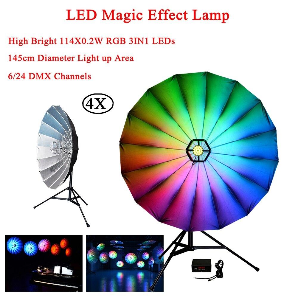 4 шт./лот свет этапа питание реагирующий на звук многоцветный диско DJ светодиодный Magic эффект лампа для День рождения КТВ выполнять концерт и