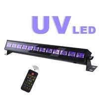 Disco UV Violet Black Lights DJ 12 LED Par Lamp UV For Party Christmas Bar Lamp Laser Stage Wall Washer Spot Light Backlight