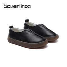Souerlinca girls shoes slip on fashion elastic sneakers kids flats shose zapato spring autumn casual shoes SL18-046(China)