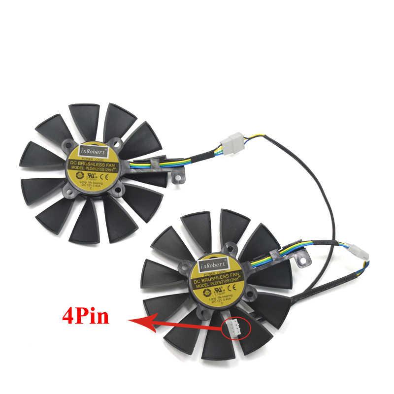2 قطعة/الوحدة 87 مللي متر PLD09210S12HH 4pin GTX 1070 بطاقة الفيديو برودة مروحة استبدال ل ASUS GTX 1070 المزدوج GTX1060 الجرافيك بطاقات التبريد