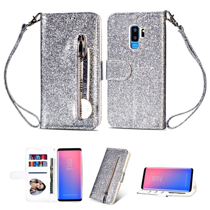 HTB1SrgUaJfvK1RjSszhq6AcGFXaj Wallet PU Leather Case For Samsung Galaxy S11 S10 E S9 S8 Plus S6 S7 Edge Note 10 Pro 8 9 Glitter Silicone Card Slot Flip Cover