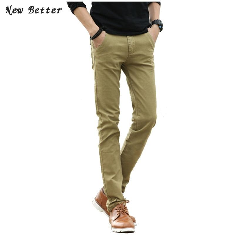 2017 pantalones mens dress pants casual fashion khaki joggers Men skinny  fit Pants Wool Pants Straight - Online Get Cheap Skinny Khaki Pants -Aliexpress.com Alibaba Group