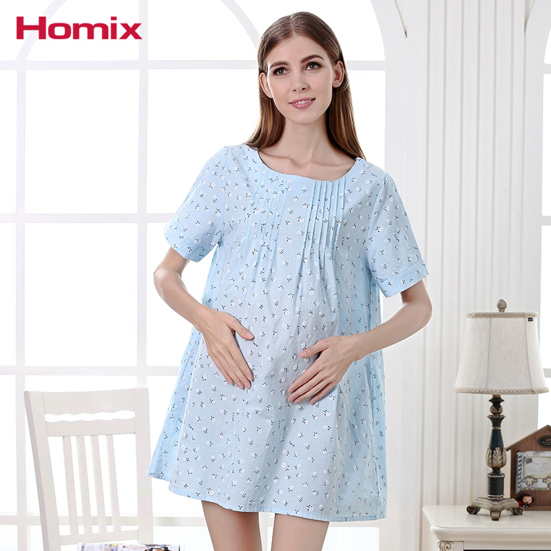 Homix Short Sleeve Floral Maternity Dresses Summer Pregnancy Clothes Pegnant Women Clothing Long Tops Plus Size T-shirts