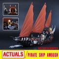 Новый Лепин 16018 Подлинная властелин колец Серии Призрак Пиратский Корабль Набор Строительный Блок Кирпич Игрушки 79008
