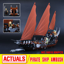 New Lepin 16018 Genuine The lord of rings Series The Ghost Pirate Ship Set  Building Block Brick Toys 79008