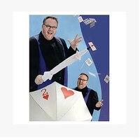 Free shipping Umbrella to find card umbrella through poker magic tricks magic props