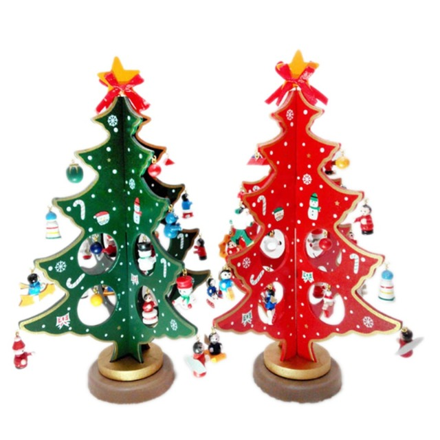 3d diy cartoon wooden christmas tree decoration xmas gift ornament 3d diy cartoon wooden christmas tree decoration xmas gift ornament table desk decoration home party wedding negle Choice Image