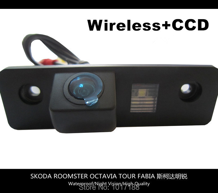 HD!! WIFI Camera Wireless Car Rear View Camera CCD Chip For SKODA ROOMSTER OCTAVIA TOUR FABIA
