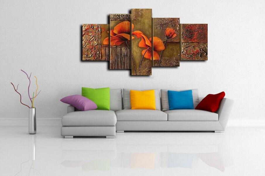 unids pintado a mano de alta calidad de orange flor de la orqudea decoracin pintura