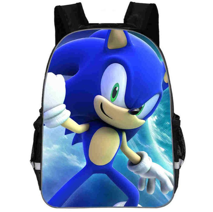 11-16 Inch Children School Bags Cartoon Doll Super Mario Sonic Backpacks For Boys Girls Mario Bros Bag Students Birthdays Gifts