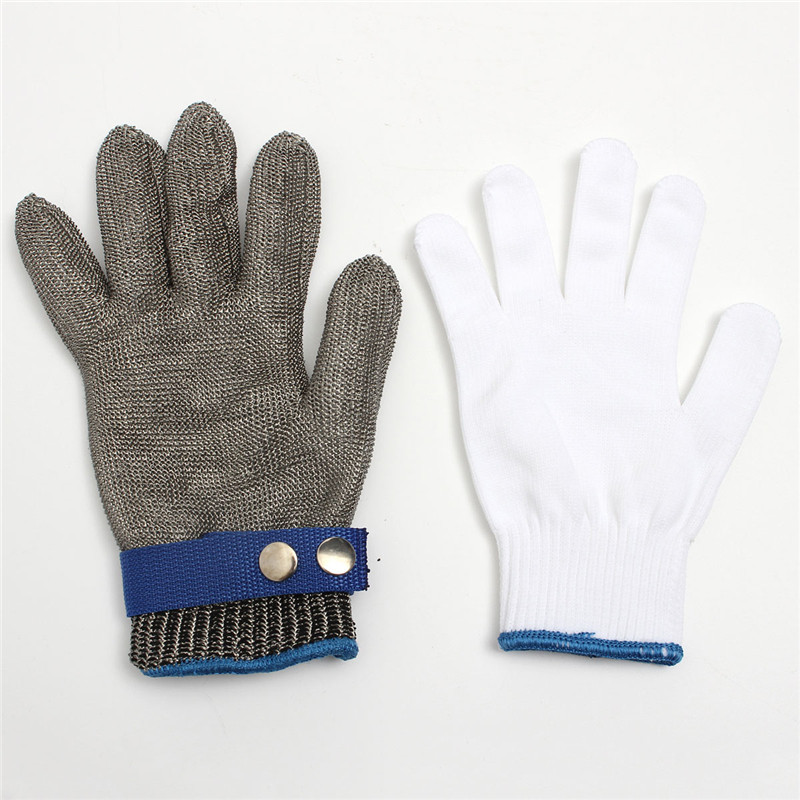 Durable Safety Cut Proof Stab Resistant Stainless Steel Metal Mesh Butcher Glove Clip Form-fitting And Comfortable To Wearing scallop laser cut form fitting dress