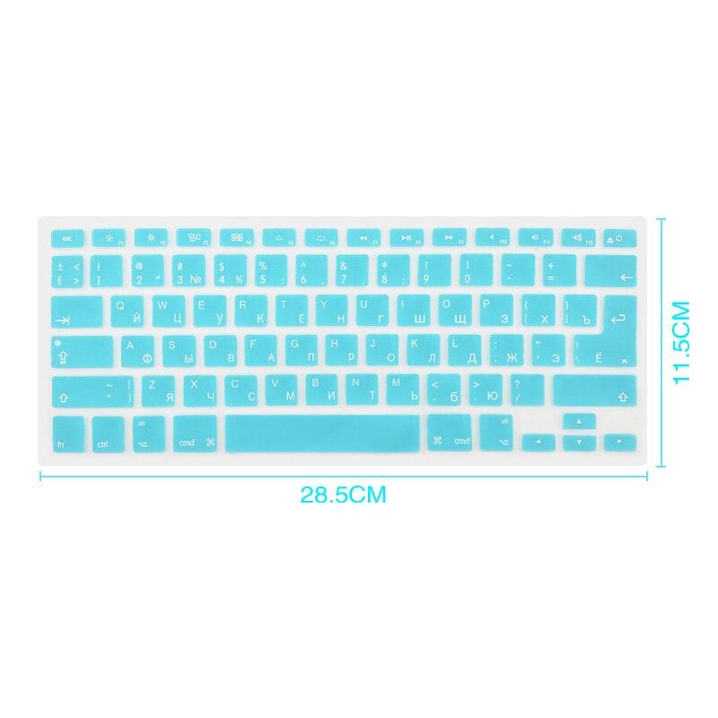 Russian English Keyboard Cover For Apple Macbook Pro Air 13 15 Soft TPU Waterproof Keyboard Stickers For Macbook EU US 13 15