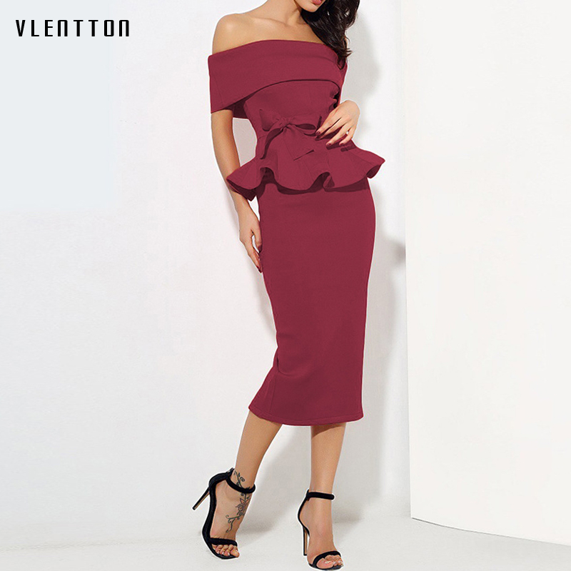 2018 Sexy Dresses Women Sleeveless Celebrity Party Dress Ruffles Vestidos Two Piece Set Bodycon Summer ladies