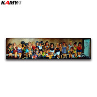5D DIY Diamond Painting Cross Stitch Cartoon Comic Set Full Round Diamond Embroidery Girl Full Square