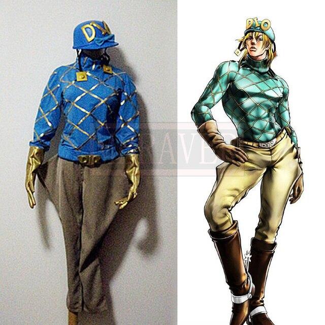 JoJo s Bizarre Adventure Diego Brando DIO Uniform Cosplay Custom Made Any  Size 882c1f4fe44d